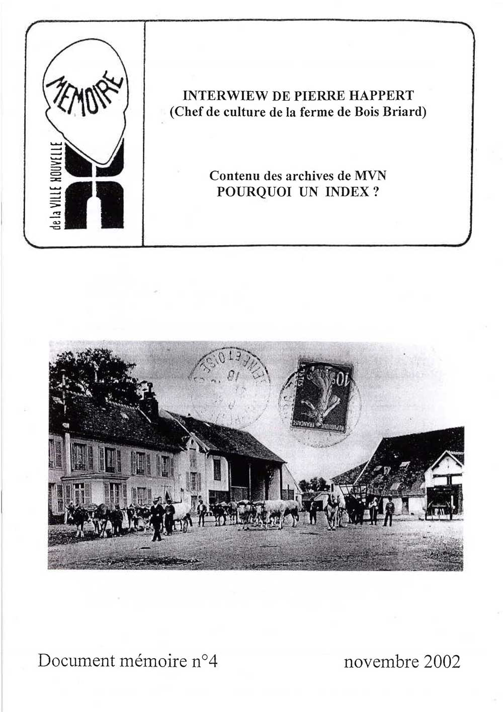Document mémoire n°4 (2002)